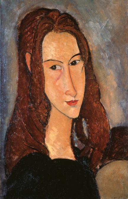 Amedeo Modigliani (Livorno,1884 - Paris, 1920); Jeune fille rousse (Jeanne Hébuterne), 1918; olio su tela, 46x29cm; collezione Jonas Netter