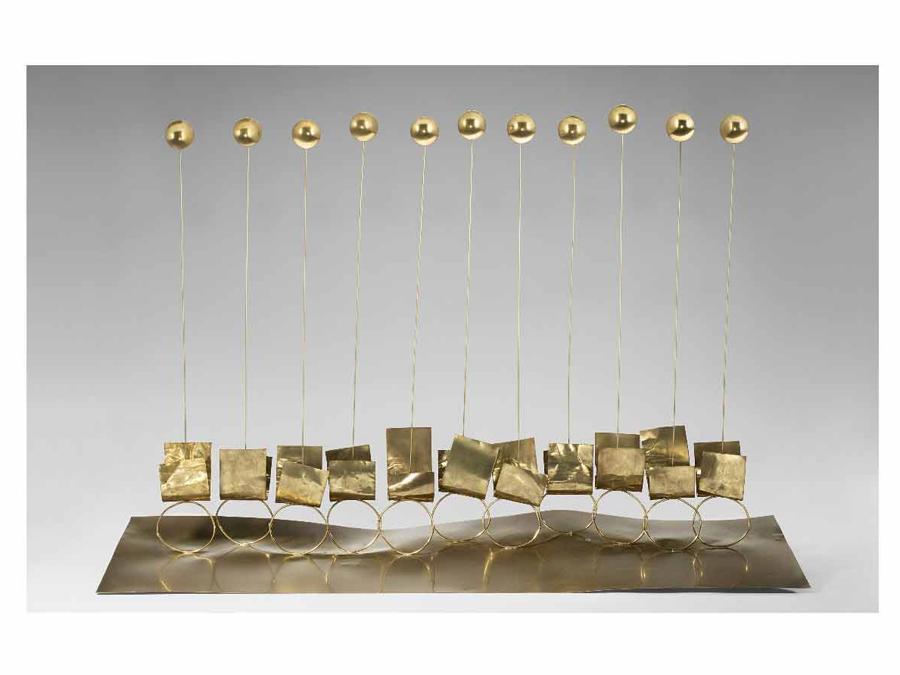 Asta 467 / lotto n. 50, Fausto Melotti, «Undici», 1971, ottone, cm 60x89x28, valutazione 70.000-100.000 €