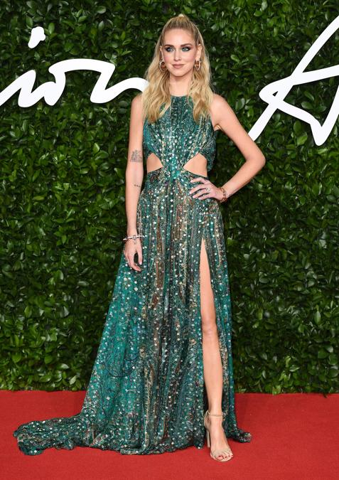 Chiara Ferragni in Etro  (Photo by Jeff Spicer/BFC/Getty Images)