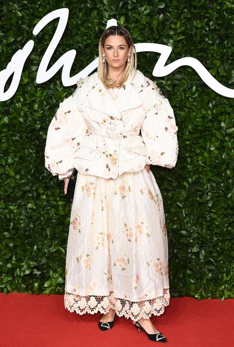 Camille Charriere in Moncler  (Photo by Jeff Spicer/BFC/Getty Images)
