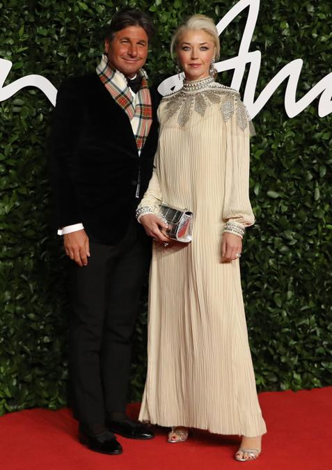 Tamara Beckwith e il marito Giorgio Veroni  (Photo by ISABEL INFANTES / AFP)