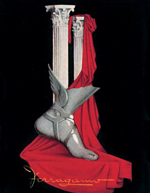 L'Etrusco (Fernando Baldi). Manifesto pubblicitario per Salvatore Ferragamo, 2013, acrilico e tempera su tela. Museo Salvatore Ferragamo, Firenze