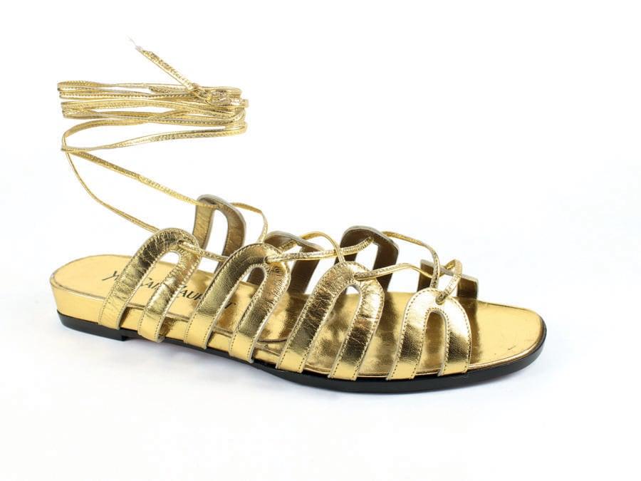 Yves Saint Laurent, Sandalo femminile destro, 1992 P/E , capretto, cuoio, calzaturificio Rossimoda per Yves Saint Laurent. Museo della Calzatura - Villa Foscarini Rossi, Stra