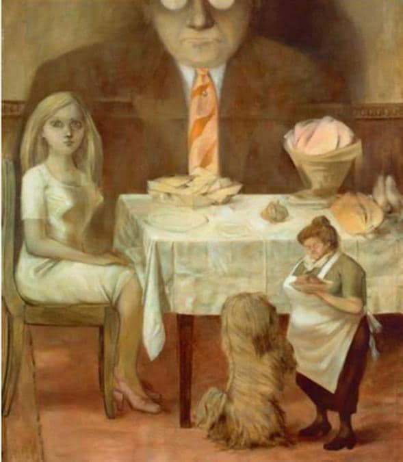 Dorothea Tanning, Portrait de famille (Family Portrait), 1953-54, Oil on canvas, Musée National d'Art Moderne, Centre Georges Pompidou, Paris