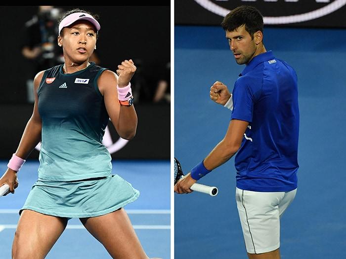 GENNAIO. TENNIS. La giapponese Naomi Osaka(sinistra) trionfa agli Australian Open femminili battendo in finale Petra Kvitova con il punteggio di 7-6, 5-7, 6-4. Nel torneo maschile, Novak Djokovic (destra) vince per la settimana volta in carriera, gli AO. Sconfitto in finale Rafael Nadal, con il punteggio di 6-3, 6-2, 6-3.