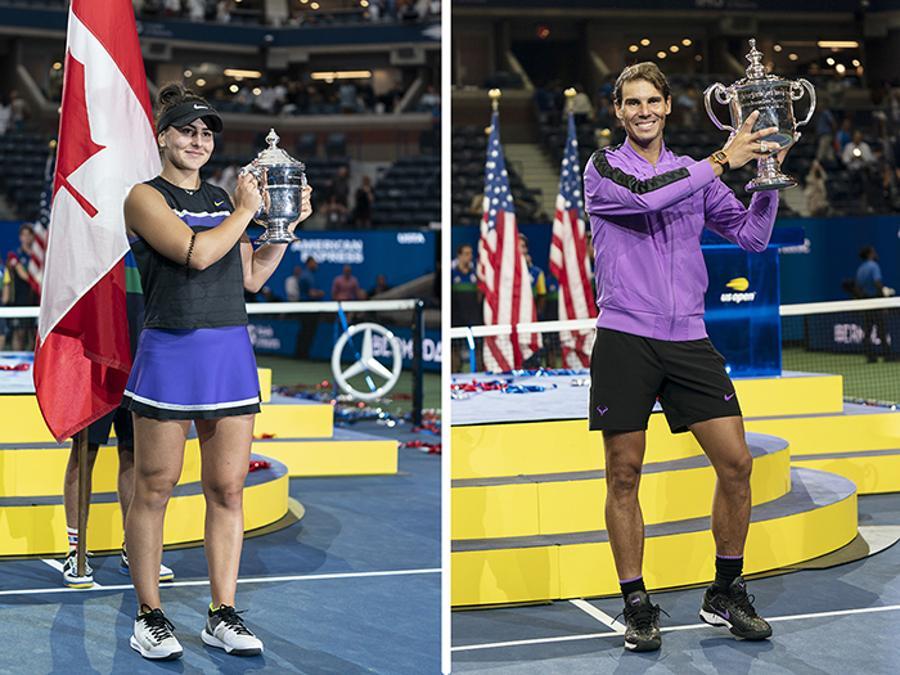 SETTEMBRE. TENNIS. La canadese Bianca Andreescu (sinistra), vince il torneo femminile degli US Open. Sconfitta in finale Serena Williams con il punteggio di 6-3, 7-5. Quarta vittoria a Flushing Meadows e diciannovesimo Slam in carriera per Rafa Nadal. Sconfitto in finale, al quinto set, il russo Danil Medvedev, con il punteggio di 7-5, 6-3, 5-7, 4-6, 6-4.