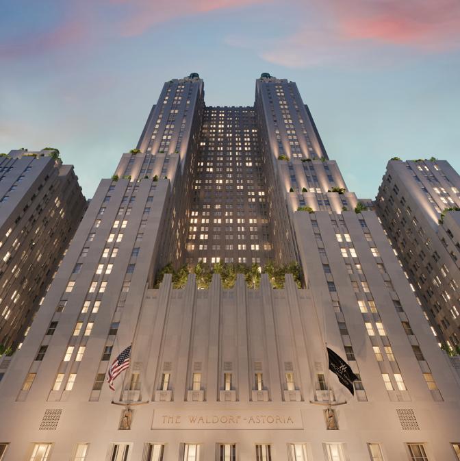 I rendering del nuovo Waldorf