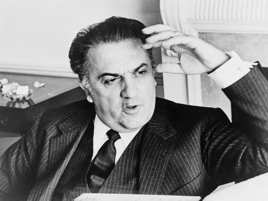 1978 - Federico Fellini  regista e scrittore italiano (Afp)