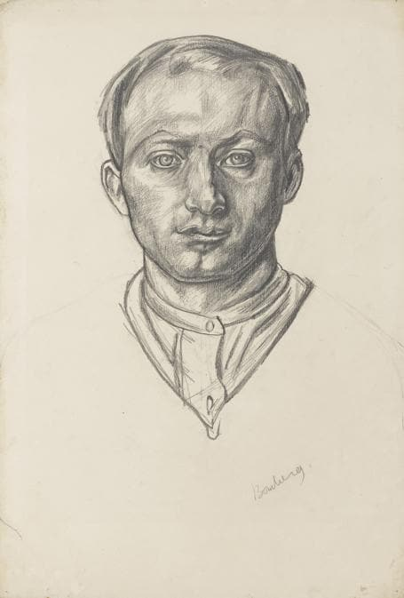 David Bomberg. Self Portrait, 1913-14. Chalk on paper, 55.9 × 38.1 cm. National Portrait Gallery, London (NPG 4522). Photo: By Courtesy of the National Portrait Gallery, London / © The estate of David Bomberg. All rights reserved, DACS 2019