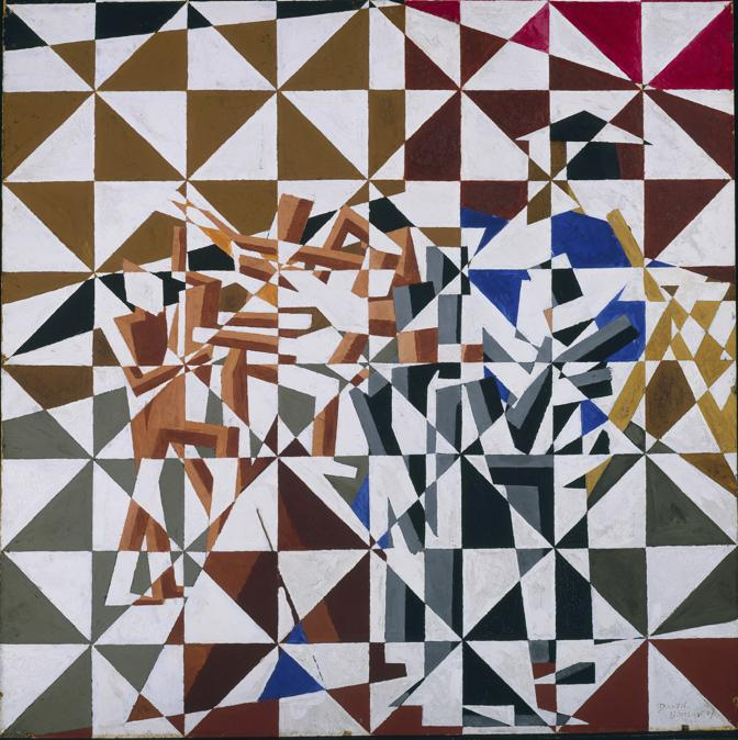 David Bomberg. Ju-Jitsu, about 1913. Oil on board, 61.9 × 61.9 cm. Tate, London (T00585). Presented by the Trustees of the Chantrey Bequest 1963. © Tate