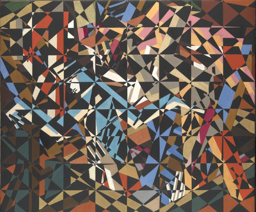 David Bomberg. In the Hold, about 1913-14. Oil on canvas, 196.2 × 231.1 cm. Tate, London (T00913). Presented by the Friends of the Tate Gallery 1967. © Tate
