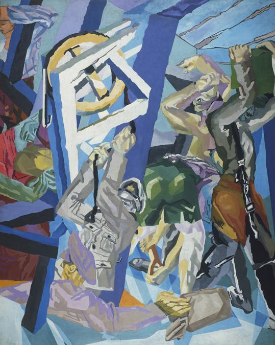 David Bomberg. Study for 'Sappers at Work: A Canadian Tunnelling Company, Hill 60, St Eloi, about 1918-19. Oil on canvas, 304.2 × 243.8 cm. Tate, London (T00319). Purchased 1959. © Tate