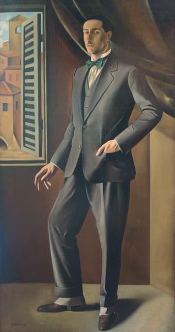 GREGORIO SCILTIAN - Ritratto del pittore futurista Ivo Pannaggi1926. Olio su tela, Fondazione Il Vittoriale degli Italiani, Gardone Riviera (BS)