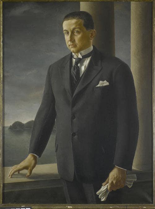 UBALDO OPPI - Il figlio dell'armatore s.d.Olio su tela, Arch. Alberto Galardi. Foto Saporetti Immagini d'Arte