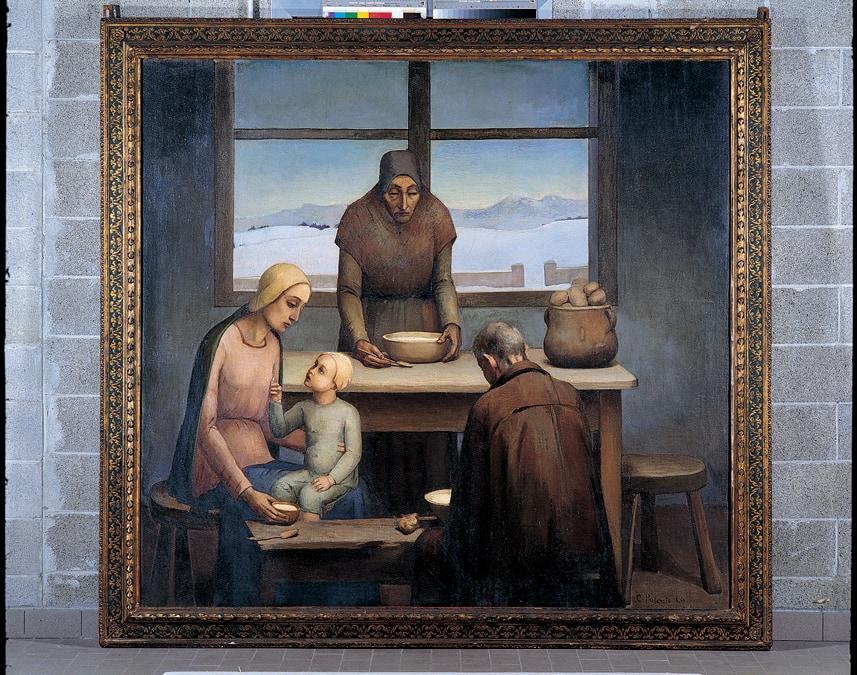 CARLO POTENTEL - A cena dei rimasti, inv. GD1993.46.11924 - Olio su tela, Wolfsoniana - Palazzo Ducale Fondazione per la Cultura