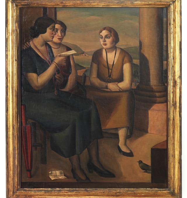 POMPEO BORRA - Composizione (Le amiche), MART4056, VAF 17071924 - olio su tela, Mart, Museo di arte moderna e contemporanea di Trento e Rovereto / Collezione VAF-Stiftung