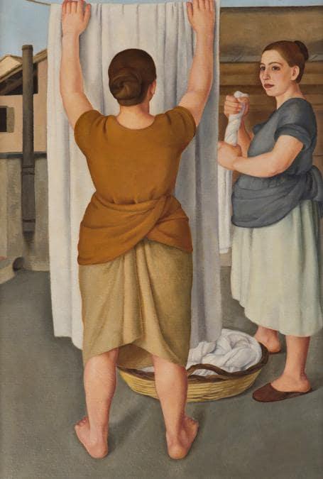 ANTONIO DONGHI - Le lavandaie1922 - olio su tela, Courtesy Galleria Russo, Roma