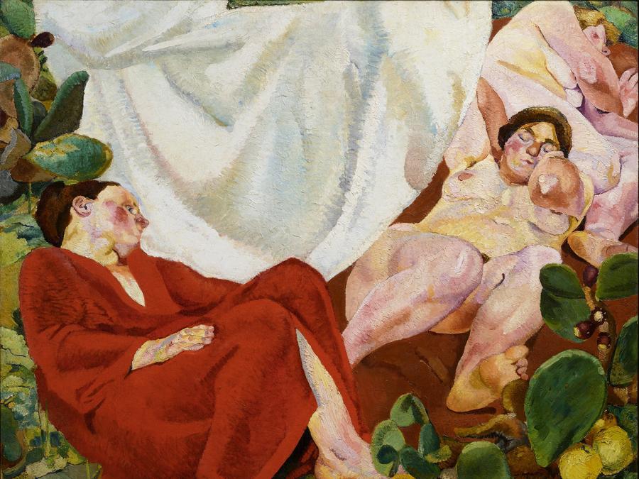 FAUSTO PIRANDELLO - Composizione (Siesta rustica) 1924-1926 - Olio su tela, Collezione Giuseppe Iannaccone, Milano