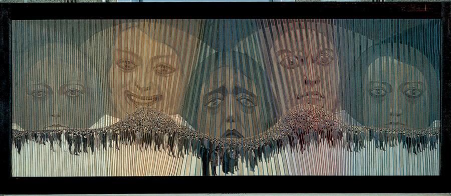 SEXTO CANEGALLO - La folla, inv. GX 1993.500, 1920 - Olio su tela, Wolfsoniana - Palazzo Ducale Fondazione per la Cultura