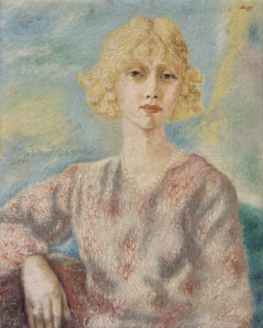 ALBERTO SAVINIO - Ritratto di Mademoiselle Parisis,1929 - olio su tela, Courtesy ED Gallery Piacenza