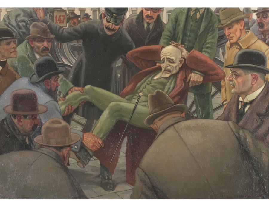 LEONARDO DUDREVILLE - Un caduto, Inv. 4813, 1919 - Olio su tela, Museo del Novecento, Milano, Copyright Comune di Milano – tutti i diritti di legge riservati