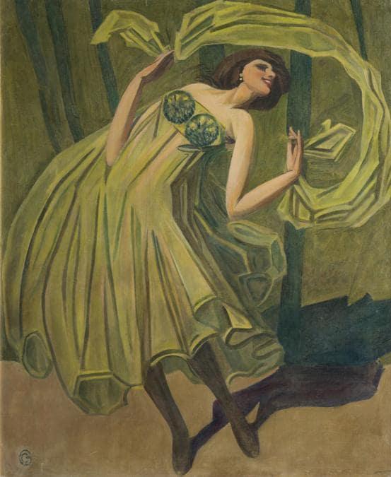 CORNELIO GERANZANI - Ballerina, 1920 - Olio su tela, Collezione privata. Foto Armando Pastorino