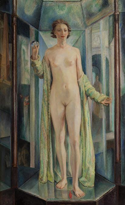 FERRUCCIO FERRAZZI - L'Idolo del prisma, inv. GX1993.473, 1925 - Olio su tavola, Wolfsoniana - Palazzo Ducale Fondazione per la Cultura