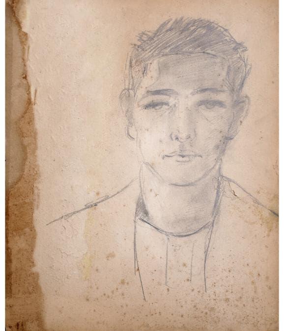 FILIPPO DE PISIS - Ritratto di ragazzo, 1924 - matita su cartone, Collezione F. B. Foto Riccardo Ragazzi