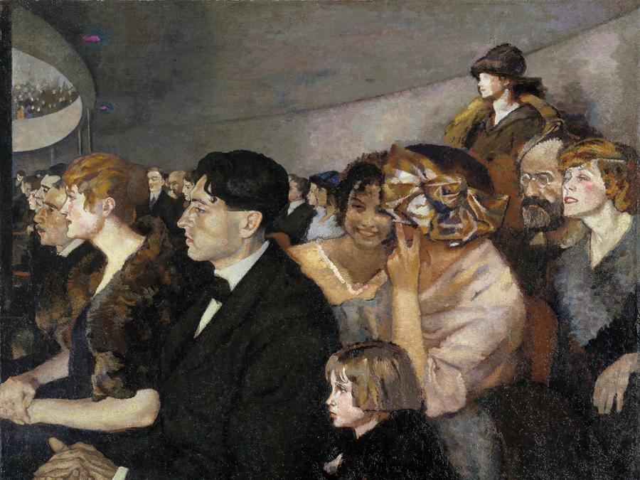 ANSELMO BUCCI - Odeon, 1919-1920 - olio su tela, Collezione privata, Courtesy Matteo Mapelli, Galleria Antologia Monza