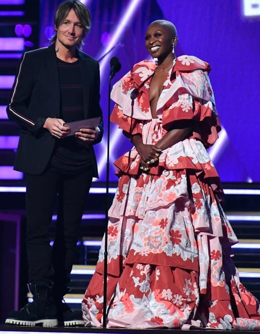 Per Cynthia Erivo. abito Valentino Haute Couture (photo by Emma McIntyre/Getty Images for The Recording Academy)