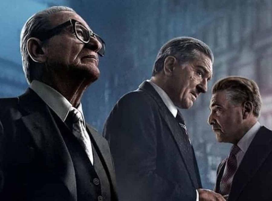 The Irishman con Joe Pesci e Robert  De Niro