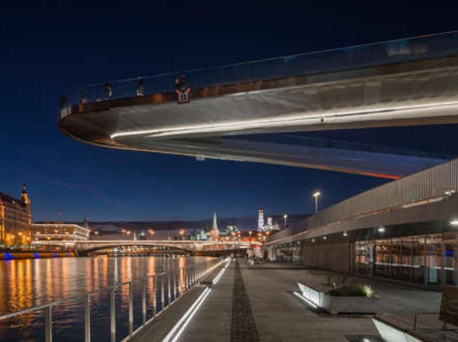 Progetti urbani.   Moscow river waterfront redevelopment, Moscow, Russia