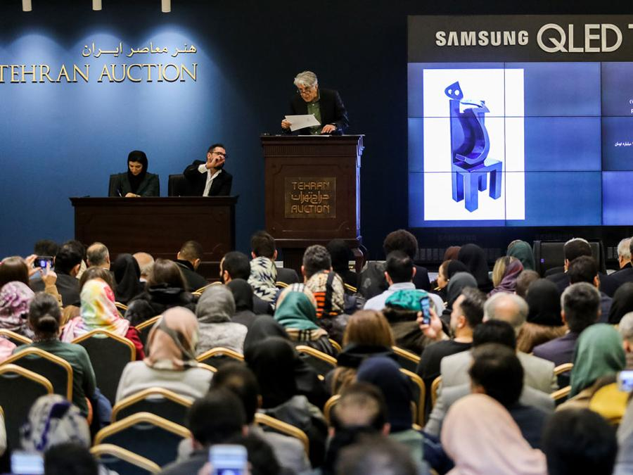 Tehran Auction al Parsian Azadi Hotel, Teheran, 17 gennaio 2020 (courtesy di Tehran Auction)