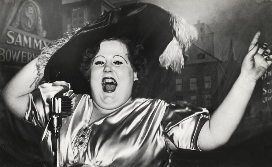 Weegee, Norma Devine is Sammy's Mae West, 1944. © Weegee/International Center of Photography