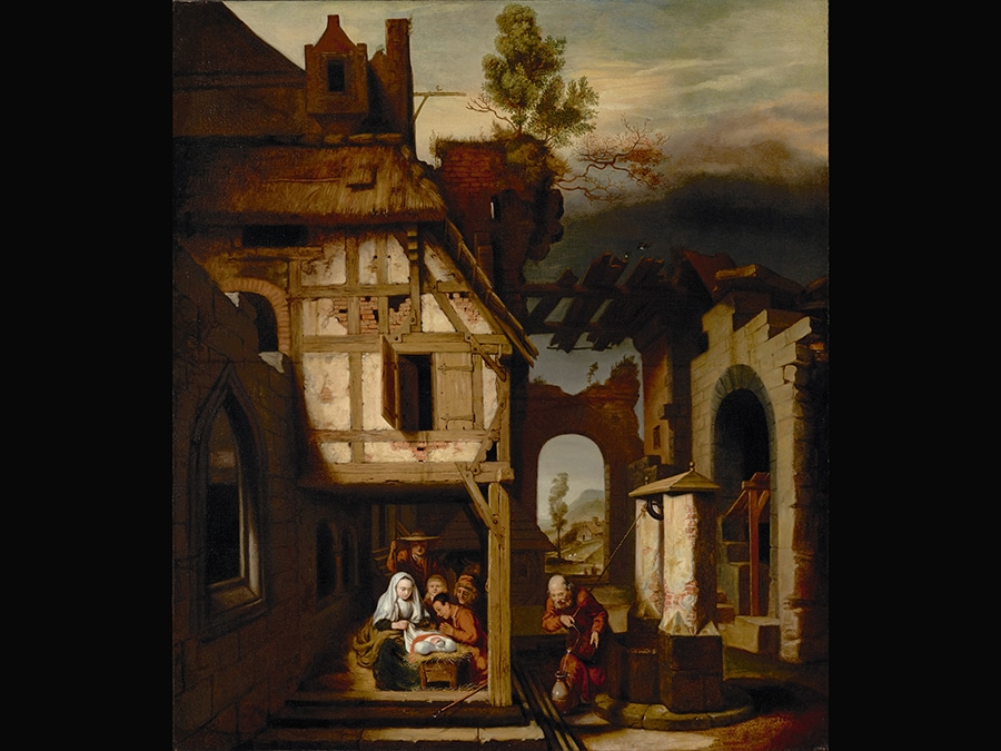 Adoration of the Shepherds. Nicolaes Maes 1656-8. © Digital image courtesy of the Getty's Open Content Program