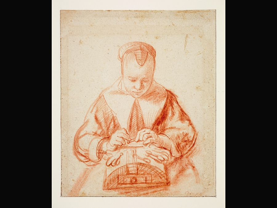 A Young Woman making Lace. Nicolaes Maes, about 1655. © Museum Boijmans Van Beuningen / Photo: Studio Buitenhof Rotterdam