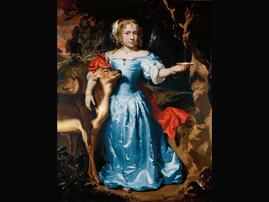 Portrait of a Girl with a Deer. Nicolaes Maes, about 1671. © 2006 Christie's Images Limited