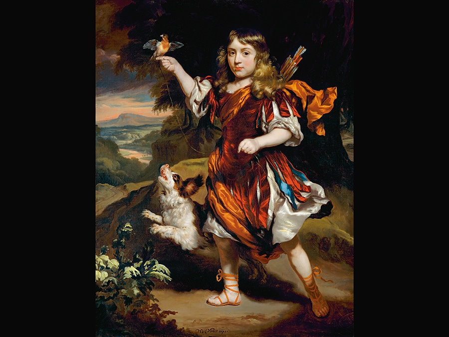 Portrait of a Boy as a Hunter. Nicolaes Maes, 1671. © 2006 Christie's Images Limited