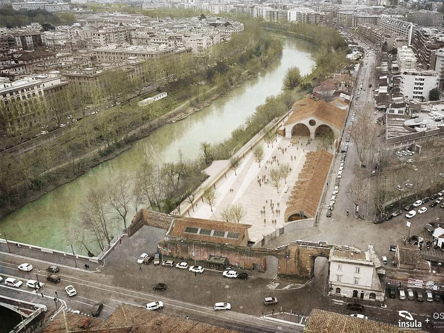 Roma, Arsenale Pontificio a Porta Portese. Rendering del progetto dell'area destinata a sede della Quadriennale