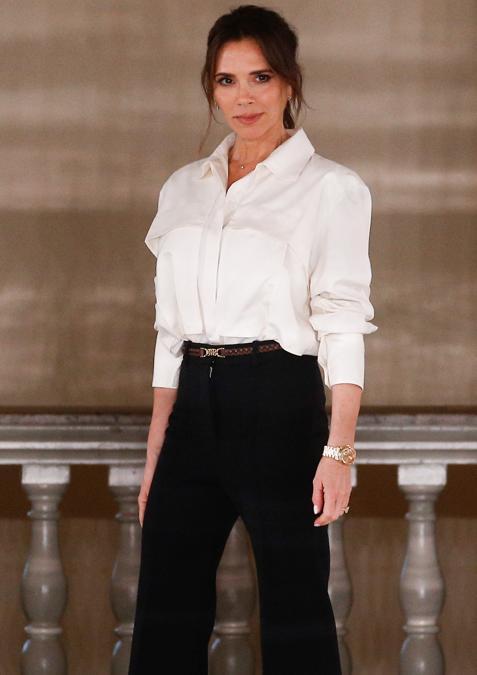 Victoria Beckham al termine della sfilata (REUTERS/Henry Nicholls)