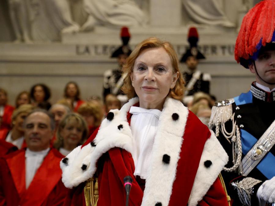 Marina Tavassi alla cerimonia di inaugurazione dell'Anno Giudiziario a Palazzo di Giustizia a Milano. (ANSA/Mourad Balti Touati)