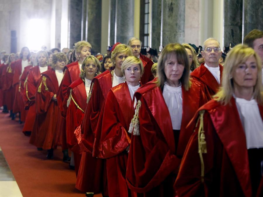 La cerimonia di inaugurazione dell'Anno Giudiziario a Palazzo di Giustizia a Milano, 1 febbraio 2020. (ANSA/Mourad Balti Touati)