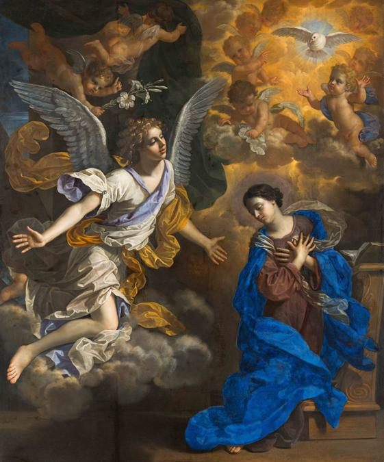 Benedetto Gennari «The Annunciation» 1686 - Oil paint on canvas - 255.3 x 210.2 - Collection of The John and Mable Ringling Museum of Art, the State Art Museum of Florida, Florida State University, Sarasota, Florida