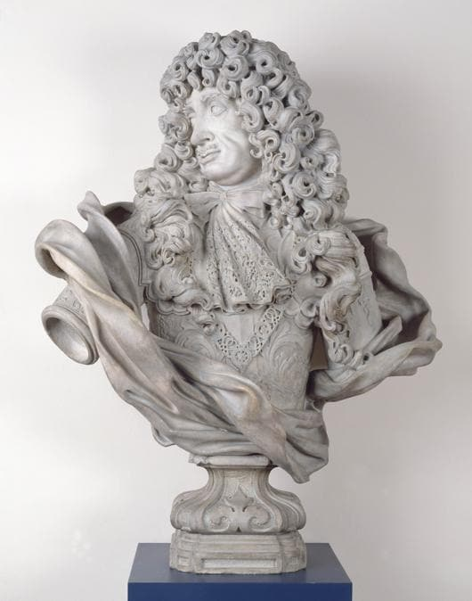 Honoré Pelle «Charles II» 1684 - Marble - 128.9 high - Victoria and AlberiMuseum. Given by Mr Henry Durlacher