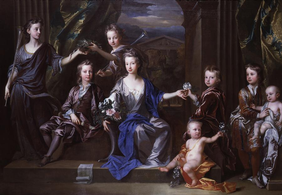 John Closterman «The Children of John Taylor of Bifrons Park» 1696 - Oil paint on canvas - 189.8 x 271.8 - National Portrait Gallery, London