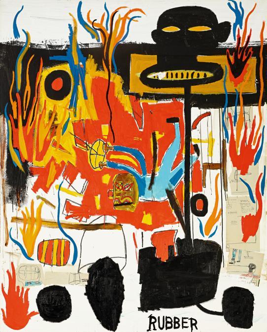 Lotto 8. Jean-Michel Basquiat, Rubber, £ 6-8 milioni