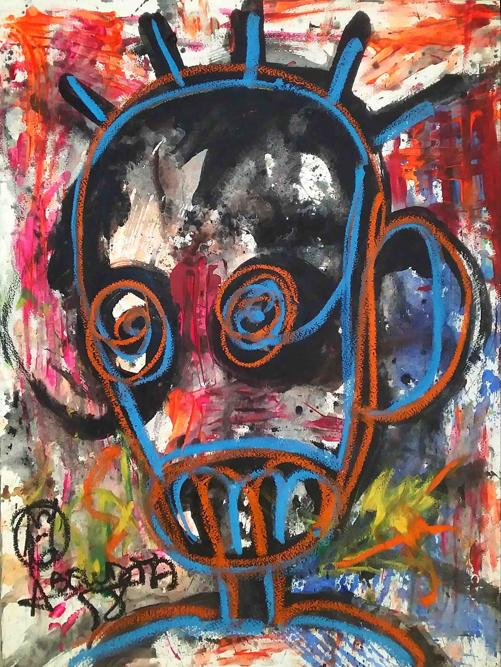 Aboudia, Môgô Dakar #1, 201 (courtesy Galerie Cécile Fakhoury/Abidjan, Dakar)