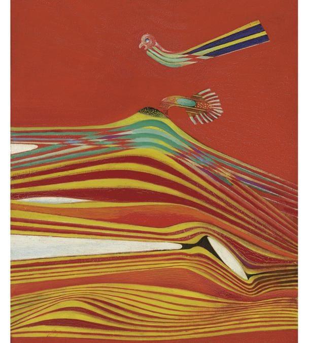 Lotto 26 - Max Ernst.  Paysage-effet d'attouchement