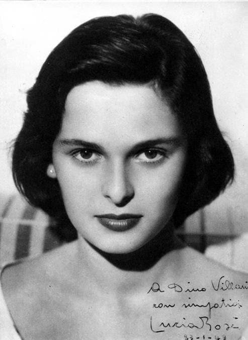 1949 - La foto con dedica regalata a Dino Villani da Lucia Bose. (Ansa / Pal)
