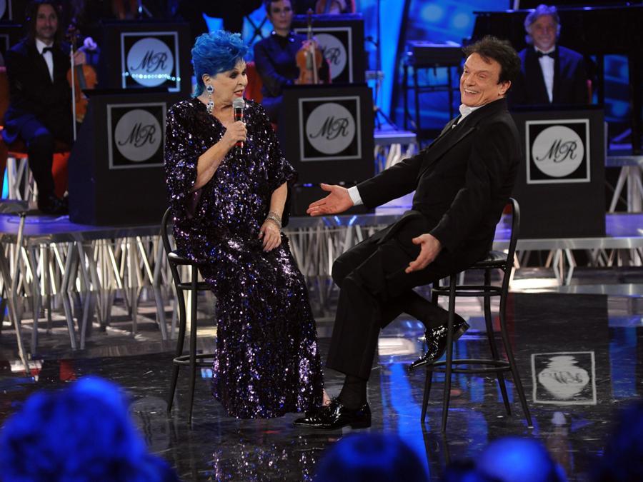 """2014 - Lucia Bose nel programma Tv """"Sogno e Son Desto"""", con Massimo Ranieri. (Foto/IPP/Gioia Botteghi)"""